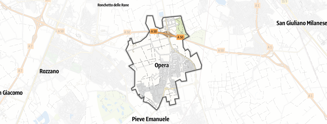 Map / Bicycle tours in Opera