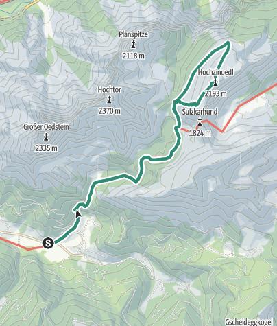 Map / Hochzinödl 2191m im Gesäuse