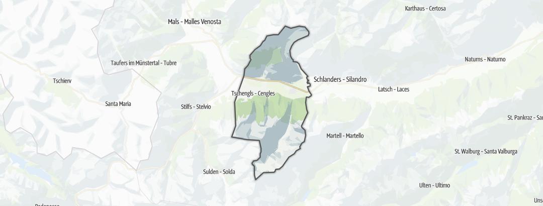 Carte / Randonnées technique - Laas