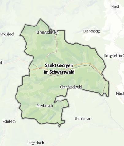 Karte / Sankt Georgen im Schwarzwald