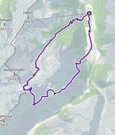 Karte / Fiderepasshütte (Start NTC Fellhorn)
