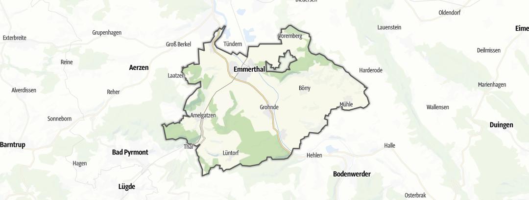 Mappa / Mountain bike a Emmerthal