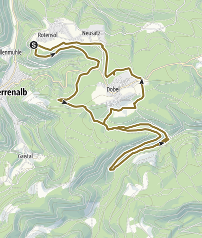 Carte / Rotensol Reitstall - Eyachmühle 3h 40min, 27km