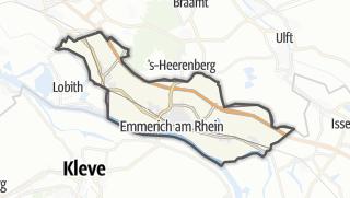 מפה / Emmerich am Rhein