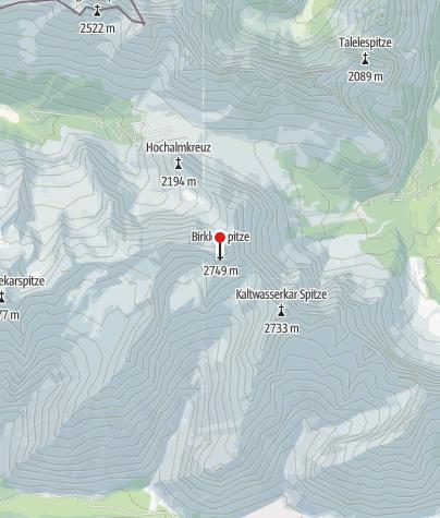 Map / Birkkarspitze über Brendelsteig