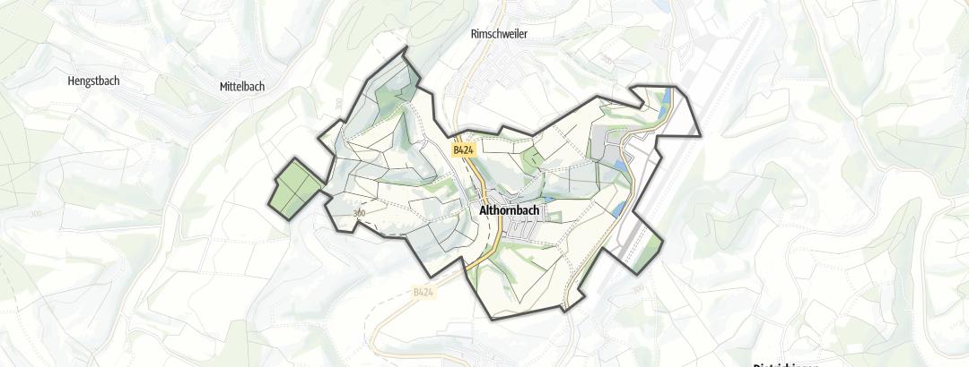 地图 / 在Althornbach里的徒步