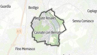 Hartă / Casnate con Bernate