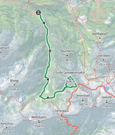 Karte / Lienzer Dolomiten: Madonnen Klettersteig