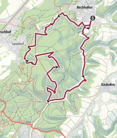 Karte / Herzog Karl-II-August-Pfad