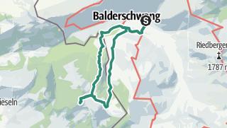 Karte / Balderschwang - Burgl Hütte mit Feuerstätterkopf