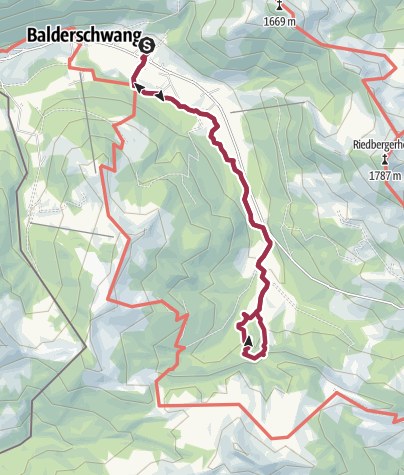 Karte / Balderschwang - Scheuenwasserfall