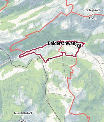 """Karte / Balderschwang - Zeitweg """"sich zitlong"""""""