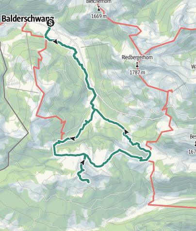 Karte / Balderschwang - Piesenkopf