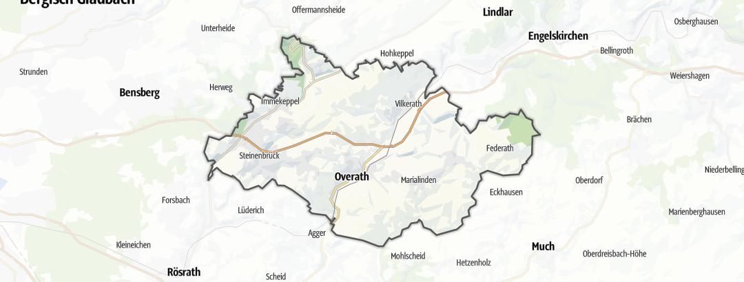 Mapa / Poutě v oblasti Overath