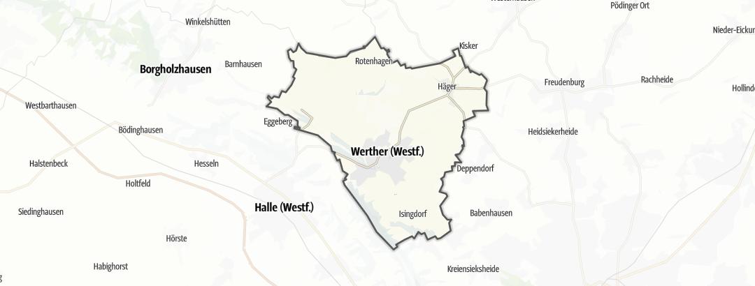 Map / Bike rides in Werther (Westfalen)