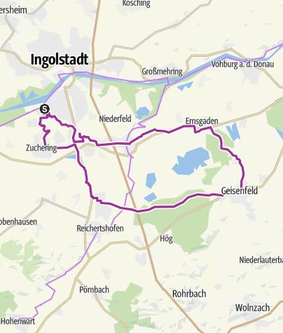 Karte / 23.07.213 Ingoradler  Ingolstadt - Geisenfeld