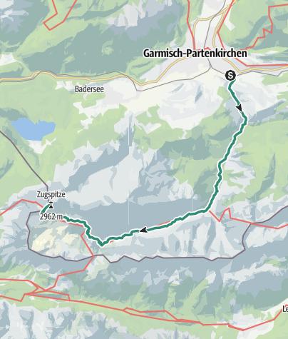 Map / Von Garmisch-Partenkirchen auf die Zugspitze