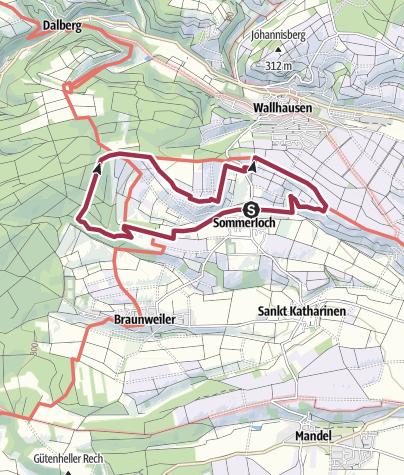 """Karte / Sommerloch im Naheland """"Sommerlocher Weg"""""""