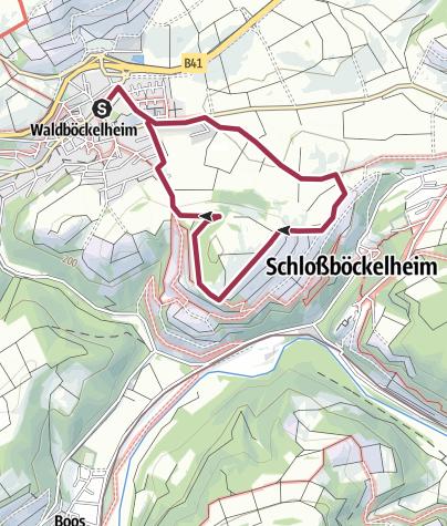 "Karte / Waldböckelheim Rundweg ""Naheblick"""