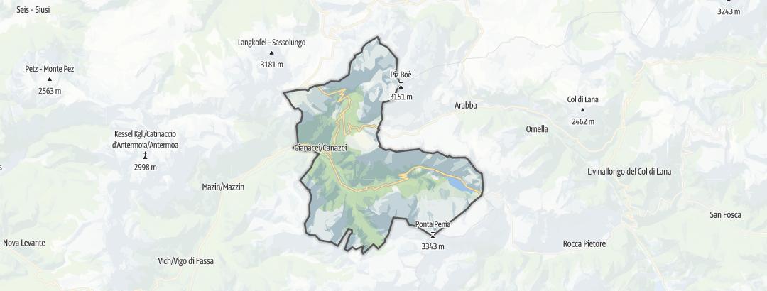 Karte / Bergtouren in Canazei