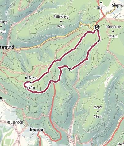 Karte / Bleßberg Rundwanderung