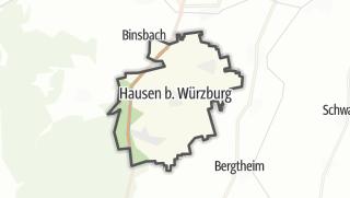 Mapa / Hausen near Wuerzburg