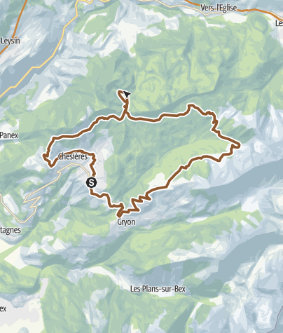 Map / MTB tour Villars-sur-Ollon