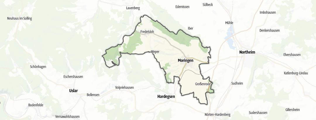 Karte / Radtouren in Moringen