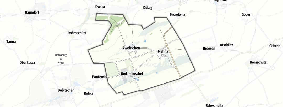 Mapa / Pochody v oblasti Mehna
