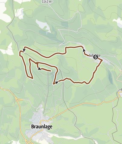 Karte / Wurmbergrunde von Schierke