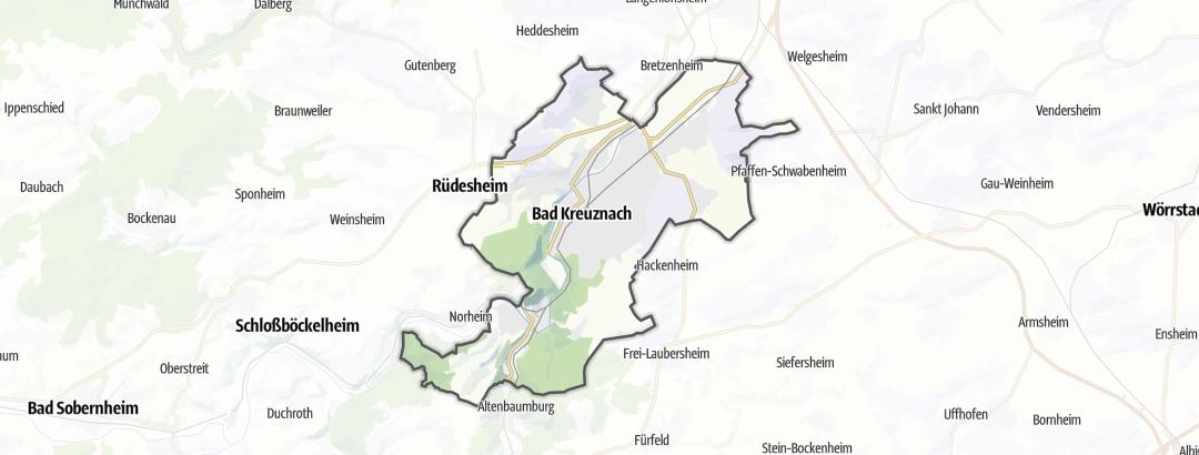 Karte / Wandern in Bad Kreuznach