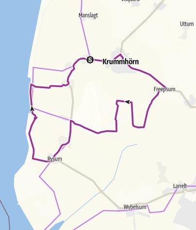 Karte / Krummhörner Kirchturm-Tour: Südlicher Teil