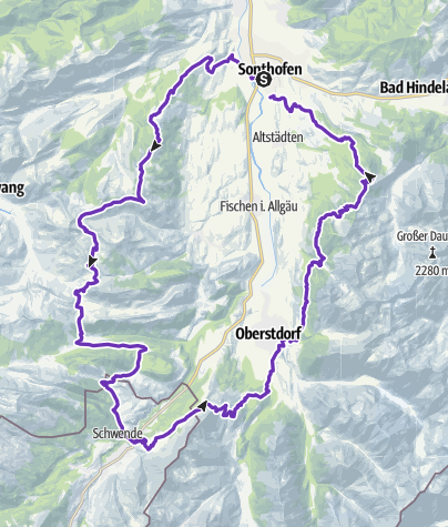 Karte / Allgäu Panorama Ultramarathon