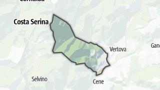 Hartă / Gazzaniga