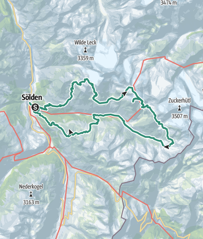 מפה / Rundtour Ötztal 5-Tage