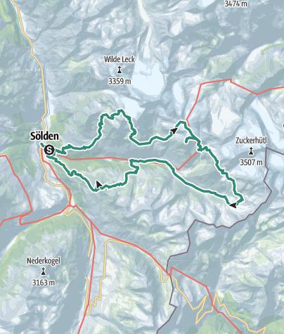 Karte / Rundtour Ötztal 5-Tage