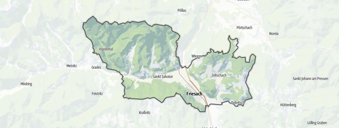 Mappa / Cammini a Friesach