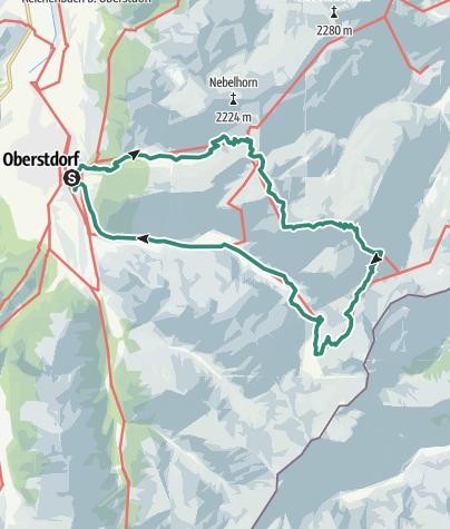 Karte / Oberstdorf - Laufbacher Eck - Oytal