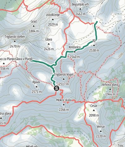 Karte / Dom Planika - Triglav - Dom Valentina Staniča