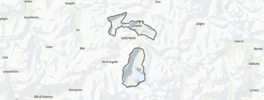 Mappa / Cicloturismo a Samedan