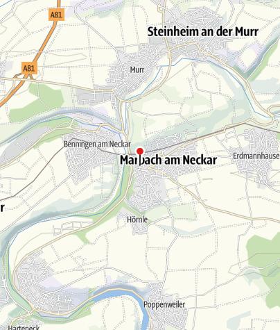 Karte / Bären Gästezimmer-Metzgerei, Marbach am Neckar