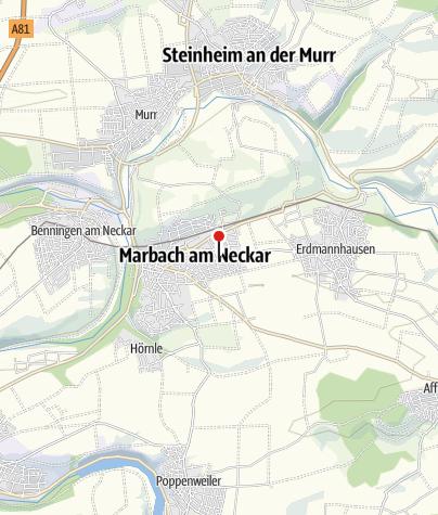 Karte / Das Häusle CriSo - Gästezimmer für Frauen, Marbach am Neckar