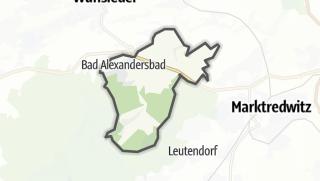 מפה / Bad Alexandersbad