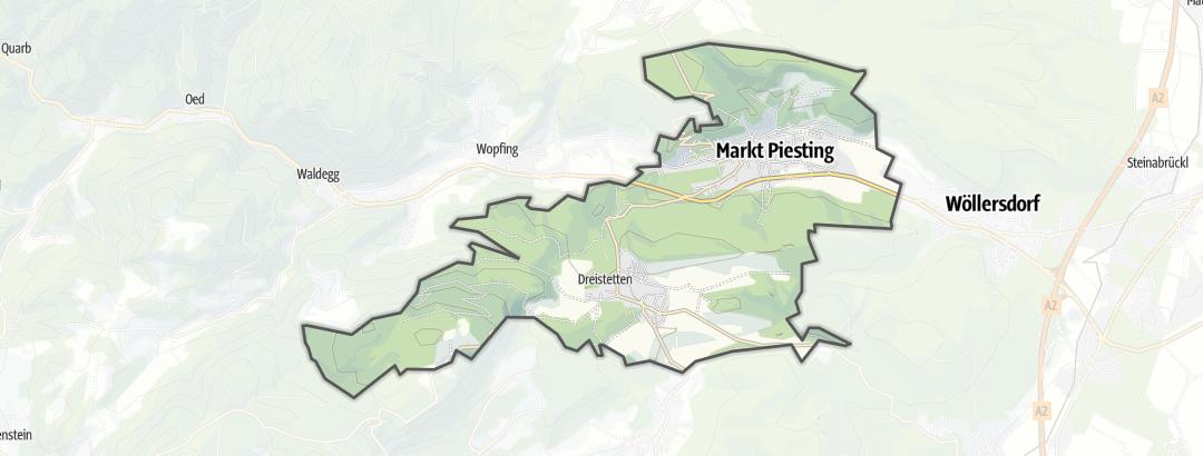 地图 / 在Markt Piesting里的登山路线