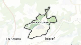 Carte / Aura an der Saale