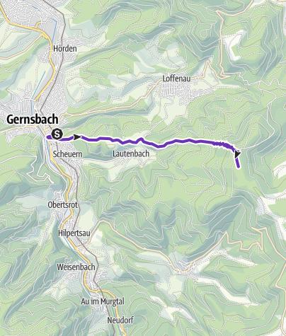 Karte / Gernsbach, Teufelsmühle Himmelsleiter