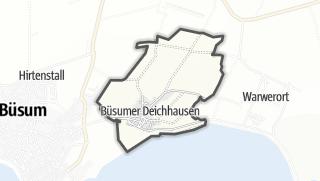 Mapa / Buesumer Deichhausen