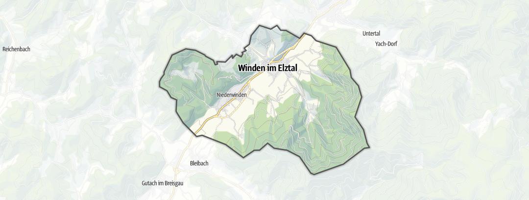 Térkép / Többnapos gyalogtúra,  Winden im Elztal területén