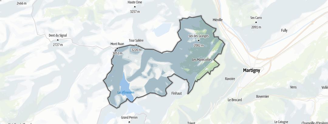 Térkép / Túrázás,  Salvan területén