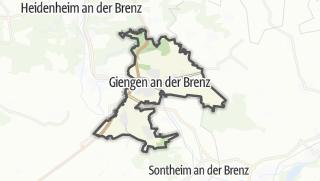 Karte / Giengen an der Brenz